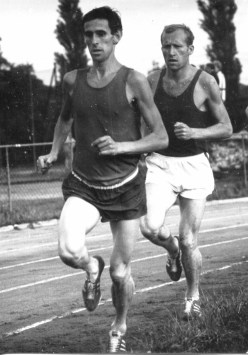 Mecser Lajos (jobbra)