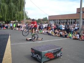 A kerékpáros bemutatóra voltak a legtöbben kíváncsiak