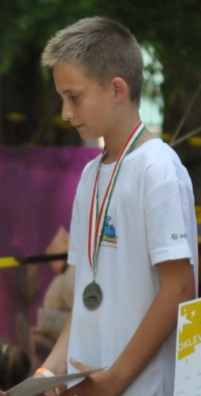 Fiúknál K(12 évesek) Kronovetter Balázs nyert